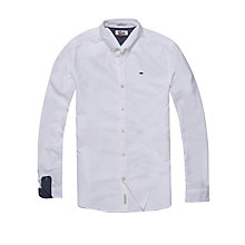 Buy Hilfiger Denim Long Sleeve Oxford Shirt, Classic White Online at johnlewis.com