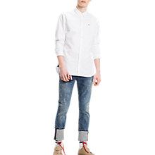 Buy Tommy Jeans Long Sleeve Oxford Shirt, Classic White Online at johnlewis.com