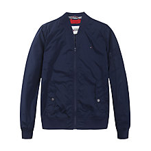 Buy Tommy Hilfiger Casual Bomber Jacket, Black Iris Online at johnlewis.com
