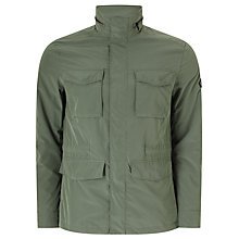 Buy J. Lindeberg Farren Peach Water-Repellent Jacket, Military Green Online at johnlewis.com