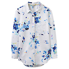 Buy Joules Jeanne Linen Shirt, Bright White Floral Online at johnlewis.com