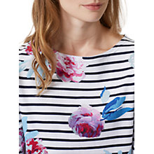 Buy Joules Harbour 3/4 Sleeve Printed Jersey Top, Grey Stripe Floral Online at johnlewis.com