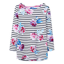 Buy Joules Harbour 3/4 Sleeve Printed Jersey Top, Navy Beau Bloom Stripe Online at johnlewis.com