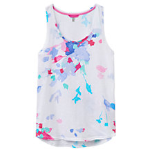 Buy Joules Bo Printed Vest, Summer Floral White Online at johnlewis.com