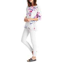Buy Joules Clemence Floral Print Sweatshirt, Soft Grey Bloom Online at johnlewis.com