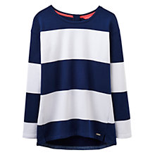 Buy Joules Clemence Wide Stripe Sweatshirt, Navy/White Online at johnlewis.com