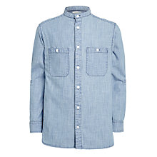 Buy John Lewis Boys' Grandad Shirt, Blue Online at johnlewis.com