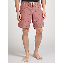 Buy John Lewis Boat Stripe Lounge Shorts, Red Online at johnlewis.com