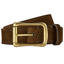 Buy Polo Ralph Lauren Suede Roller Buckle Belt, Brown Online at johnlewis.com
