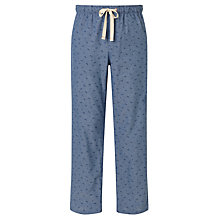 Buy John Lewis Palm Print Chambray Lounge Pants, Blue Online at johnlewis.com