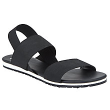 Buy Kin by John Lewis Lerum Double Strap Sandals, Black Online at johnlewis.com