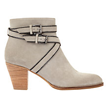 Buy Mint Velvet Coco Block Heeled Ankle Boots, Stone Online at johnlewis.com