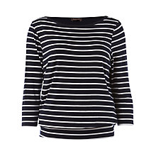 Buy Phase Eight Judith Blouson Top, Navy Online at johnlewis.com