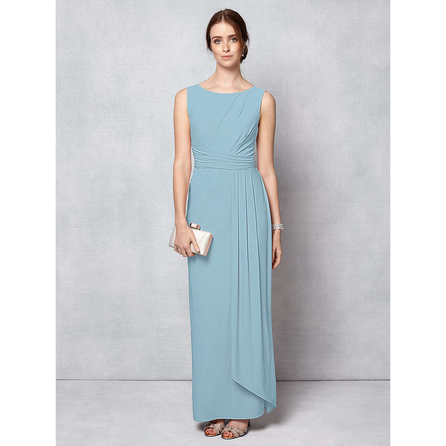 Phase Eight Bridal Cody Maxi Dress, Dusty Blue at John Lewis