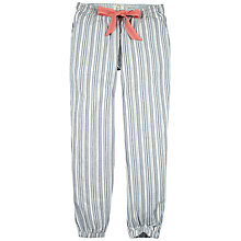 Buy Fat Face Variagated Stripe Cuffed Lounge Trousers, Chambray Online at johnlewis.com