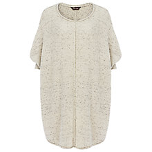 Buy Phase Eight Consolata Curve Hem Top, Natural Online at johnlewis.com