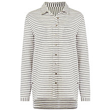 Buy Phase Eight Saia Stripe Shirt, Grey Online at johnlewis.com