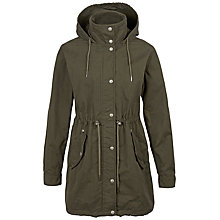 Buy Fat Face Allerby Parka, Khaki Online at johnlewis.com