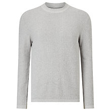 Buy Samsoe & Samsoe Trisul Heavy Rib Cotton Jumper, Grey Melange Online at johnlewis.com