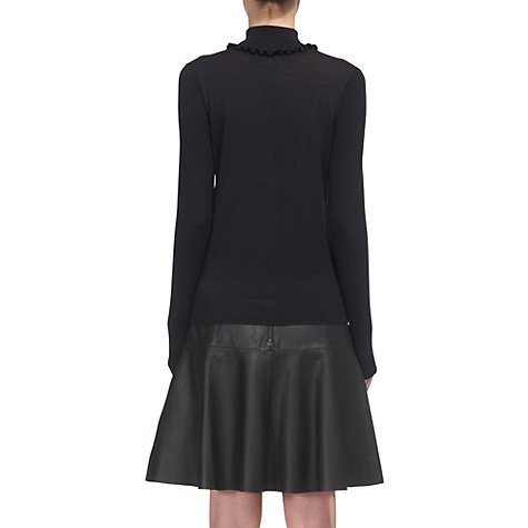 Buy Whistles Frill Neck Merino Wool Knit, Blue Online at johnlewis.com