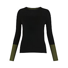 Buy Whistles Colour Block Cuff Jumper Online at johnlewis.com