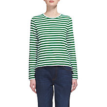 Buy Whistles Stripe Chevron Back Top, Green Online at johnlewis.com