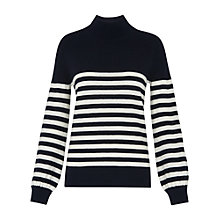 Buy Whistles Funnel Neck Ribbed Knit, Multi Online at johnlewis.com