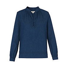 Buy Whistles Jocelyn Denim Top, Dark Denim Online at johnlewis.com