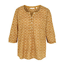 Buy Fat Face Jenny Stitching Stars Popover Top Online at johnlewis.com