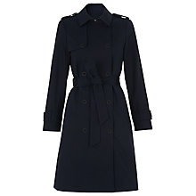 Buy Whistles Sofia Trench Coat, Navy Online at johnlewis.com