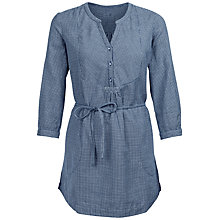 Buy Fat Face Jo Gingham Longline Tunic, Navy Online at johnlewis.com