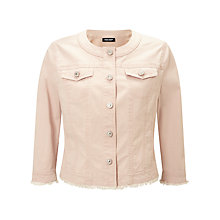 Buy Gerry Weber Denim Jacket, Powder Pink Online at johnlewis.com