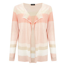 Buy Gerry Weber 3/4 Sleeve Block Stripe Cardigan, Powder/Pink Online at johnlewis.com