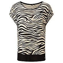Buy Gerry Weber Animal Print T-Shirt, Black/Ecru Online at johnlewis.com