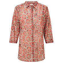 Buy Gerry Weber 3/4 Sleeve Printed Shirt, Red White Online at johnlewis.com