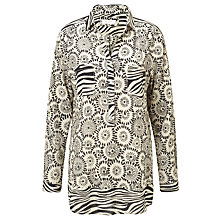 Buy Gerry Weber Printed Shirt, Desert/Black Online at johnlewis.com