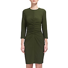 Buy Whistles Lydia Gathered Bodycon Dress, Khaki Online at johnlewis.com