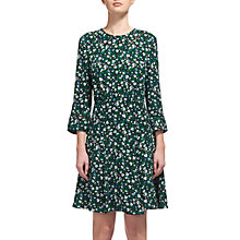 Buy Whistles Francis Bell Flower Dress, Green/Multi Online at johnlewis.com