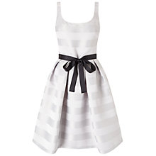 Buy Miss Selfridge Stripe Prom Dress, Grey Online at johnlewis.com