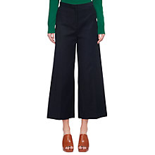 Buy Whistles Tia Cotton Cropped Trousers, Navy Online at johnlewis.com