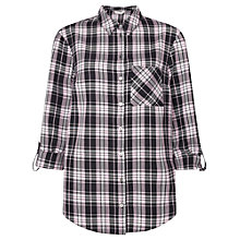 Buy Miss Selfridge Check Shirt, Pink Online at johnlewis.com