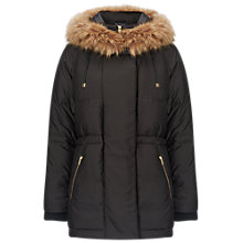 Buy Miss Selfridge Duvet Puffer Coat, Black Online at johnlewis.com