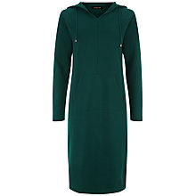 Buy Jaeger Casual Hooded Dress, Green Online at johnlewis.com