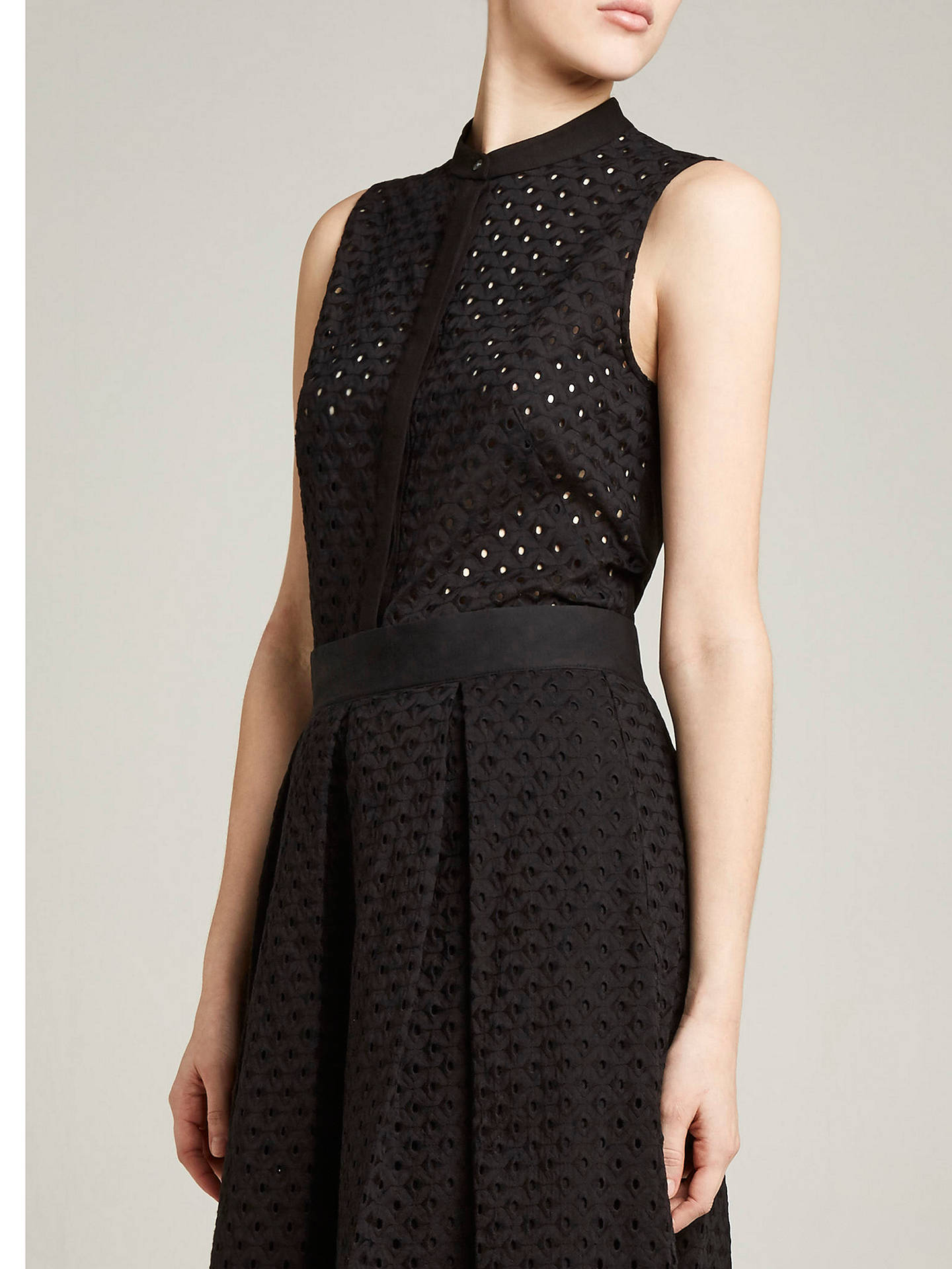 dca1e140c Buy Winser London Broderie Anglaise Top, Black, 8 Online at johnlewis.com  ...