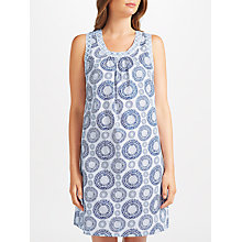 Buy John Lewis Lara Tilly Chemise, White/Navy Online at johnlewis.com