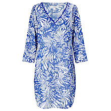Buy John Lewis Batik Palm Classic Sleeve Kaftan, Blue Online at johnlewis.com