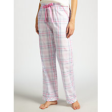 Buy John Lewis Jamie Check Pyjama Bottoms, Pink/Blue Online at johnlewis.com
