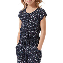 Buy Jigsaw Girls' Ditsy Dandelion Jumpsuit, Navy Online at johnlewis.com