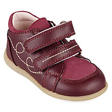 Buy John Lewis Children's Ella Double Rip-Tape Shoes, Pink Online at johnlewis.com