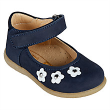 Buy John Lewis Children's Myla Daisy Mary Jane Shoes, Navy Online at johnlewis.com